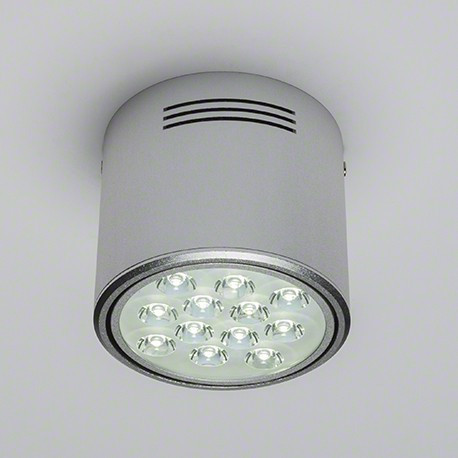 Foco Downlight de Superficie de LEDs Aluminio 12W 1200Lm 30.000H