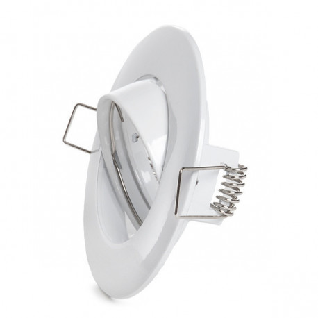 Aro Downlight Basculante Circular Aluminio Color Blanco 93mm