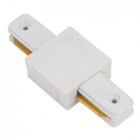 Conector Recto para Carril Focos de LEDs Color Blanco